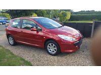 PEUGEOT 307 16 HDI DIESEL 90 S 3 DOOR Hatchback RED 83,000 GEN
