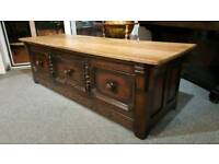 18th century end of bed bench trunk