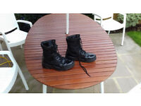 KOMBAT Black Patrol Boots - Half Leather/Half Nylon Size 7