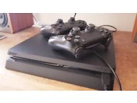 Sony PlayStation 4 1Tb slim, good condition, 2 controllers