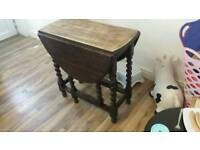 Drop leaf table real wood solid oak