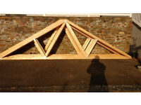 Roof trusses 15 off. New ,unused, manufactured by Manderwood timber Ltd.