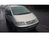 2002 VW Sharan 7 seater silver 157k miles Diesel TDI *needs TLC*