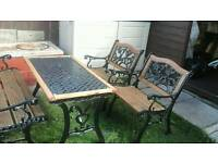 Cast iron garden patio set