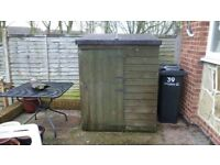 4ft x 3ft pent garden shed