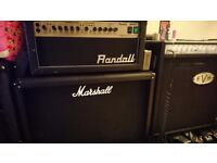 Randall RH50T tube amp and Marshall MC212 cabinet