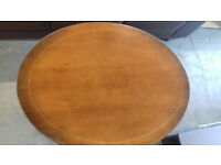 Regency style OVAL TILT TOP COFFEE TABLE..Claw Feet, Casters.... Local Delivery....