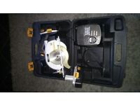 18 Volts Mac-allister circular saw with 2 batteries and charger.