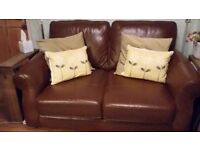 Next Leather 2 seater sofa