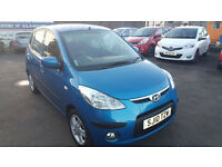 HYUNDAI i10 2010 59,000 MILES 1.2 PETROL MANUAL 5 DOOR HATCHBACK BLUE
