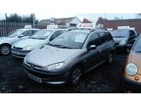 2005 05 PEUGEOT 206 SW 1.4 HDI £30 TAX FULL MOT CLEAN RELIABLE EXAMPLE £595