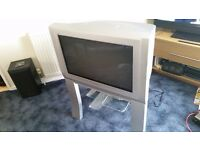 Panasonic TX-28DTM1 free view TV with stand.