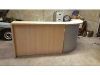 Beech modular reception desk