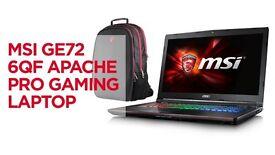 MSI GE72 6QF Apache Pro Gaming Laptop/ Computer