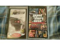 2 Psp games. Grand Theft Auto & Need for Speed