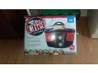 Go Chef 8-in-1 Non-Stick Multi Functional Cooker with Bonus Recipe Book