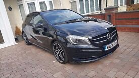 2014 MERCEDES A CLASS A180 1.5 DIESEL AMG 48.000 MILES, 1 OWNER FULL DEALER HISTORY SAT NAV LEATHER