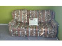 3 seat sofa with folded bed