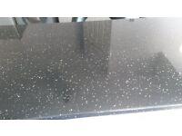 3 x Black Glam Sparkle Kitchen worktops