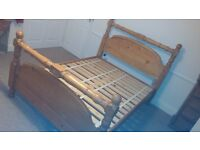 Queen size oak bed - good condition
