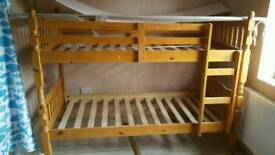 Bunk bed wooden used