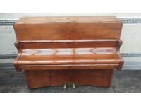 Immaculate High Gloss 'Bentley' Upright Console Piano & Stool - CAN DELIVER