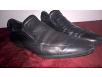 Men's black leather loafer shoes: 'n.d.c. made by hand' in uk size 9.5 to 10