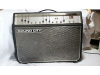 Guitar Amp. Sound City Concord. Circa 1969 All Valve (tube) Hand built by Dallas Arbiter.