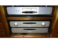 Roksan c. d & amps, speakers.