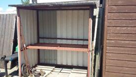 Log storage shed