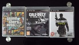 PS3 games gta5 and call of duty