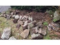 URGENT, FREE: loads of large garden rocks