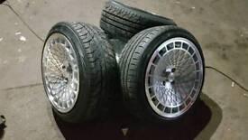 """16"""" stuttgart alloy wheels 4x100"""