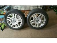 Vw golf alloys + tyres