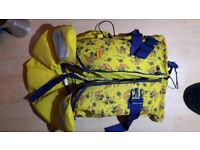 Children's life jacket 65N for 20 - 42 kg body weight
