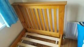 Sold wooden single bed frame