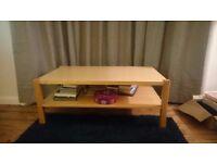 IKEA beech coffee table for sale