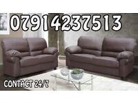 3&2 or Corner Leather Sofa Range Cash On Delivery 43573