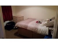 New great quality double bed and mattress inc new bedding lamp etc