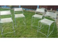 4 x high style bistro chairs.