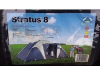 stratus 8 man camping tent as new condition,