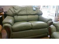 Klaussner 2seat leather sofa and 2 reclining armschairs Excellent condition