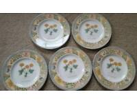 5 x WEDGWOOD HOME GARDEN MAZE SIDE PLATES