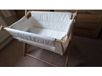 Saplings katie crib & mattress in natural wood