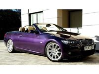 BMW 330d M Sport Convertible Exclusive Individual Techno Violet