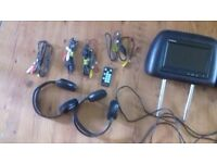 7 inch in car monitors with accessories, excellent condition
