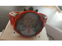 Diesel DZ7370 Big Daddy Red Watch Authentic Brand New