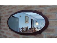 Retro Teak Wall Mirror In Danish Style Excellent condition.