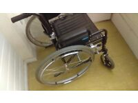 Mobility manual wheelchair. 18 inch steel alloy wheels with toolkit and accessories. £50 ono