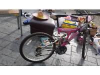 Ladies pink 6 speed bike like new